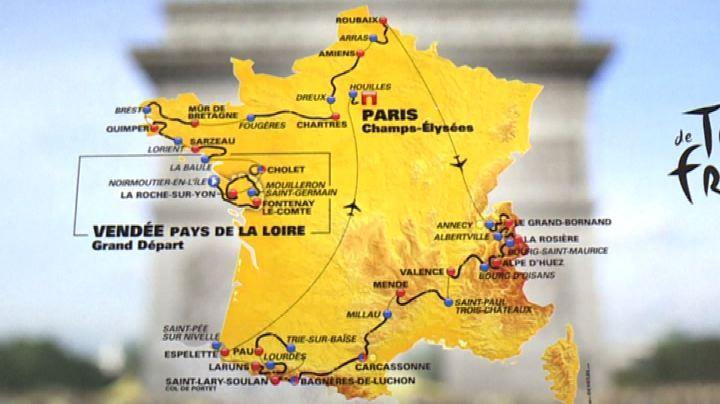 Tour de France: svelate a Parigi le 21 tappe dell'edizione 2018